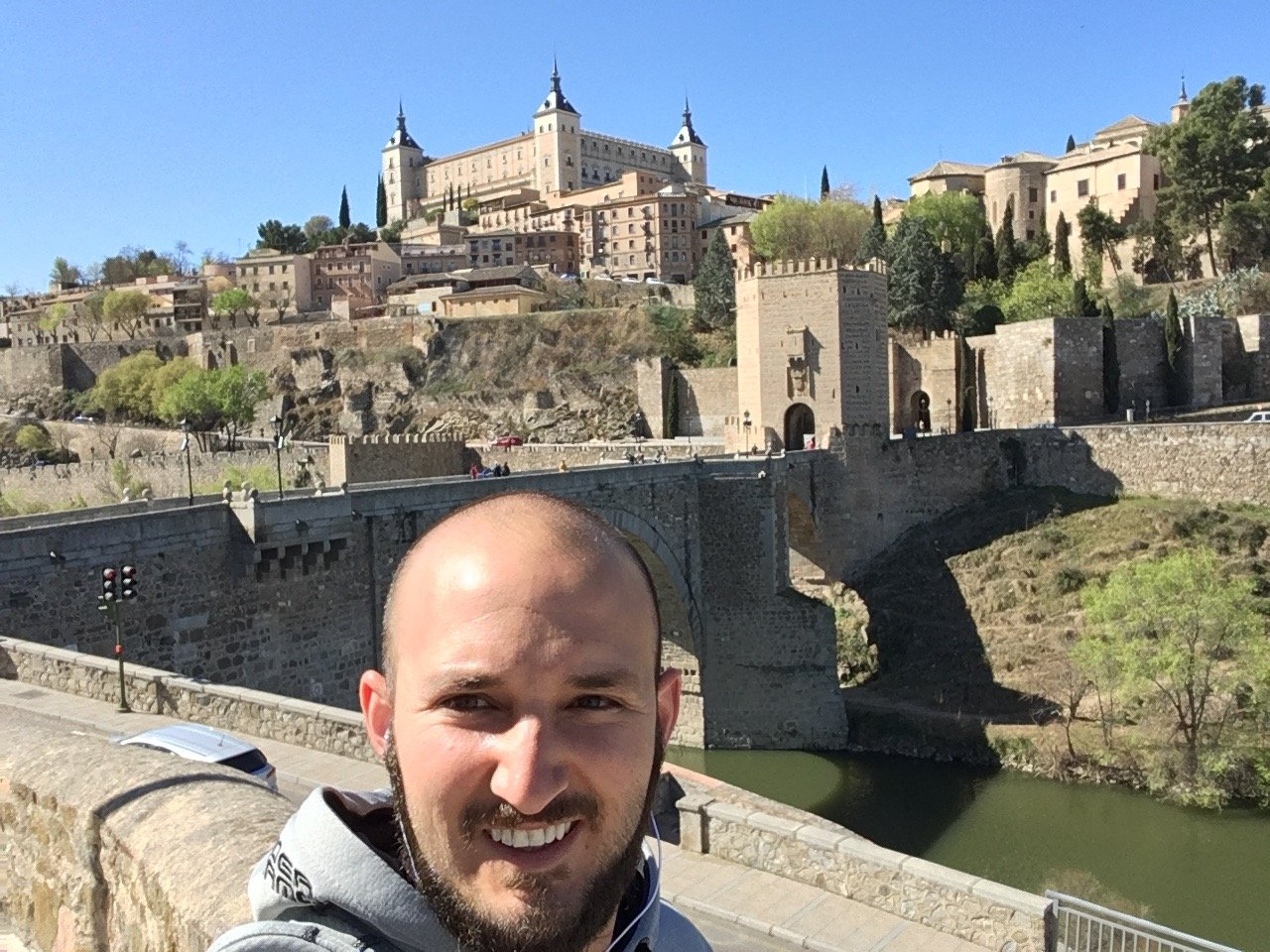 Ryan in Spain before going to Police Academy