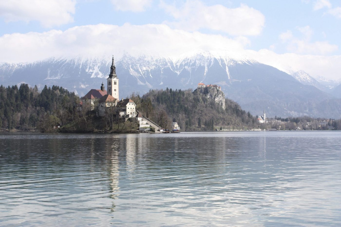 One of the many places Lucy and Matt saw while travelling as a couple: Lake Bled