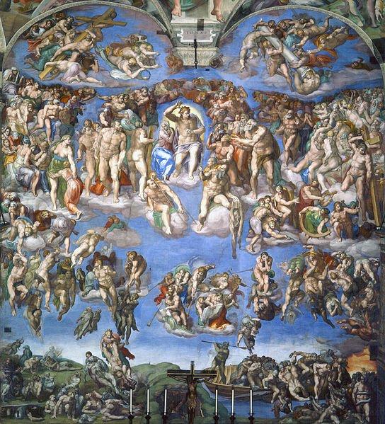 The Last Judgement by Michelangelo, Sistine Chapel, Vatican City