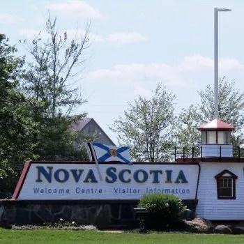 Nova Scotia Tourism sign