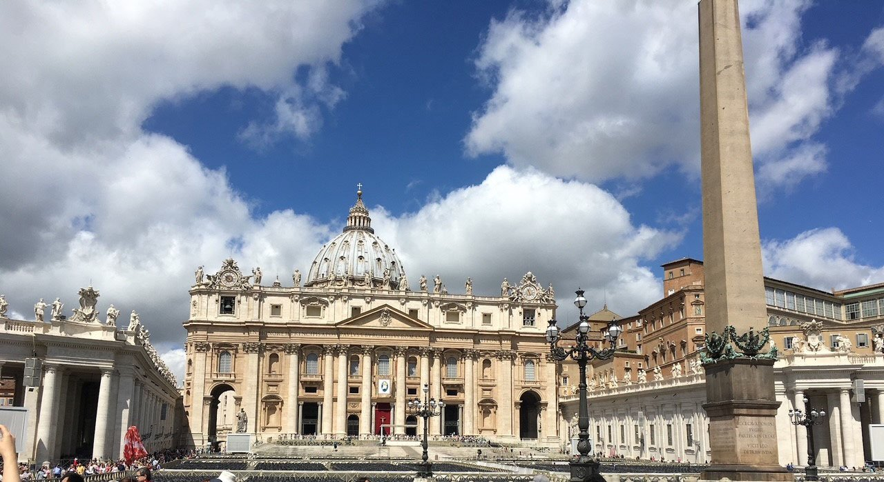 St. Peter's Basilica from outside in the Vatican City