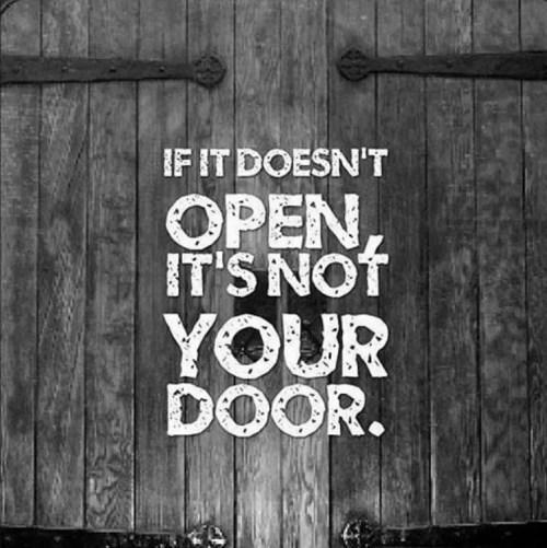 if it doesnt open its not your door