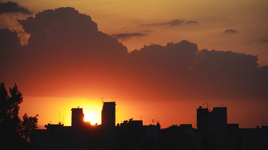 mexico city sunset