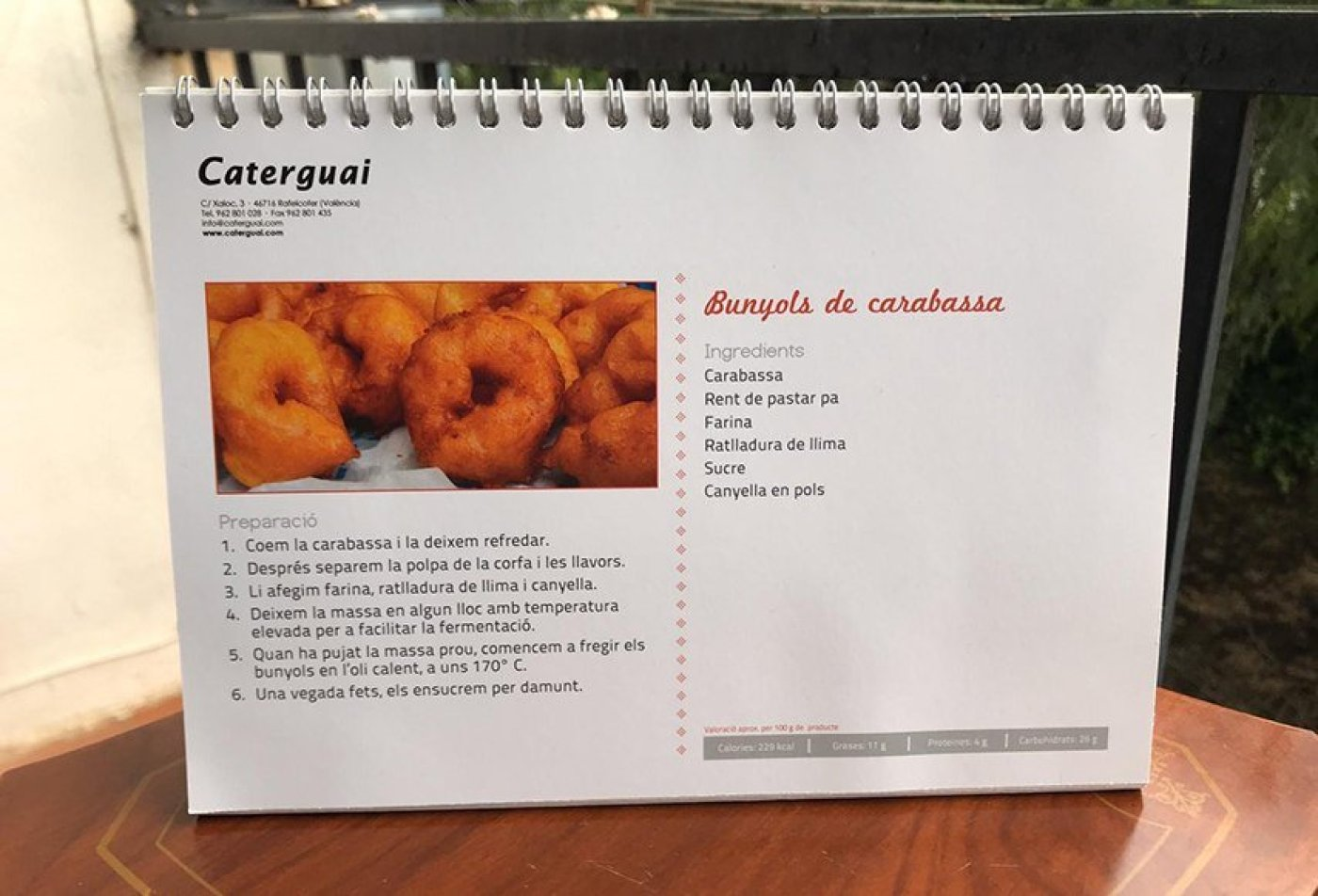recipes for typical dishes in the region. This one is for Pumpkin Doughnuts