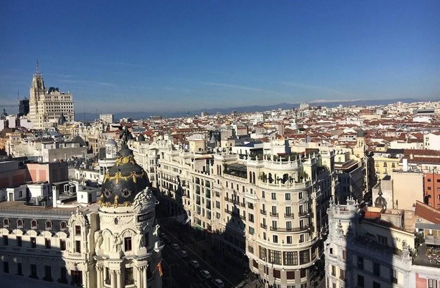 view from the top of circulo de bellas artes
