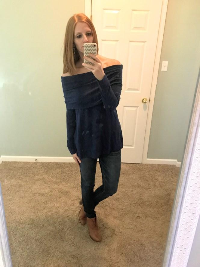 LOFT foldover tunic