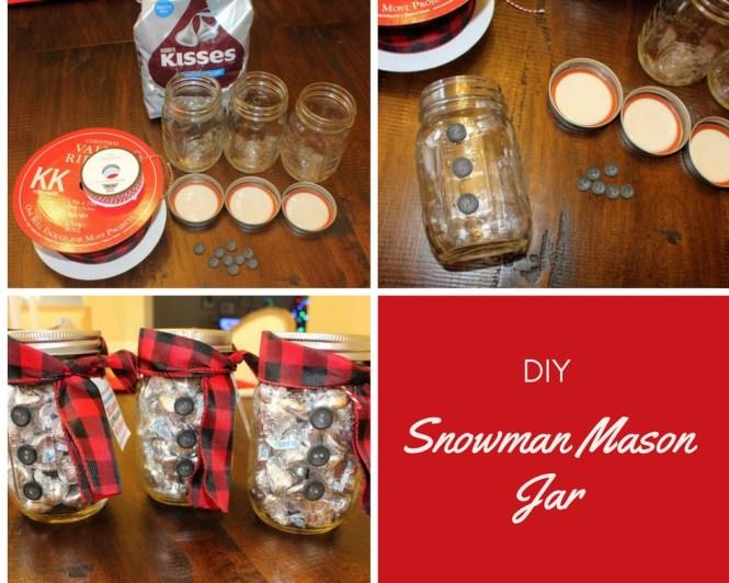 DIY Snowman Mason Jar Gift