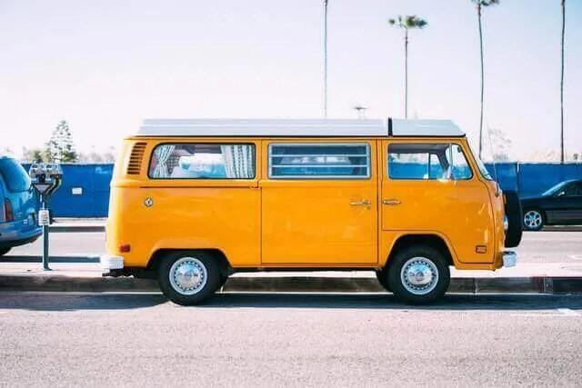 Yellow Class B RV Van