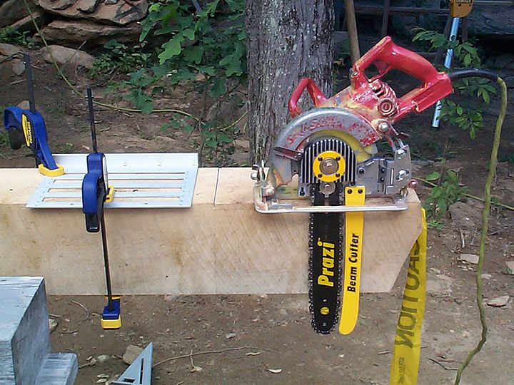 Homemade Chainsaw Mill Design
