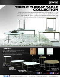 Triple Threat Table Collection | Custom Furniture ...