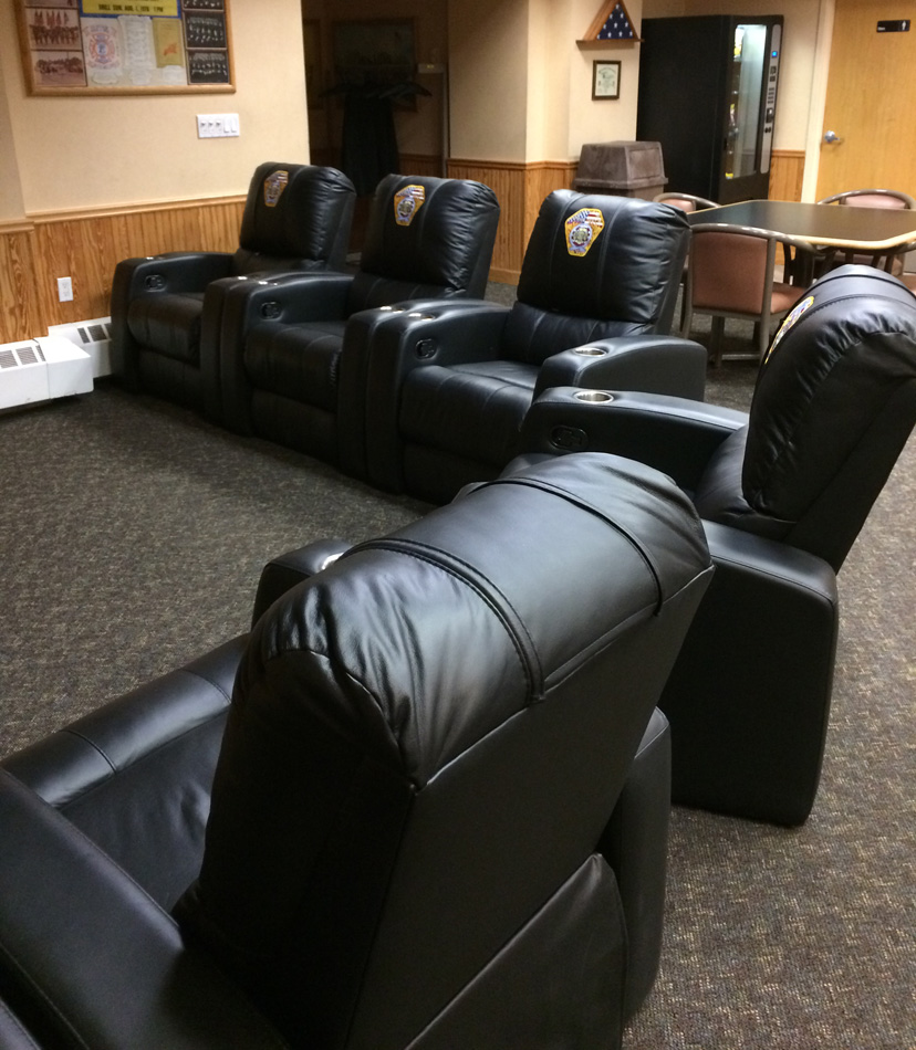Custom Day Room Furniture  Leather Recliners