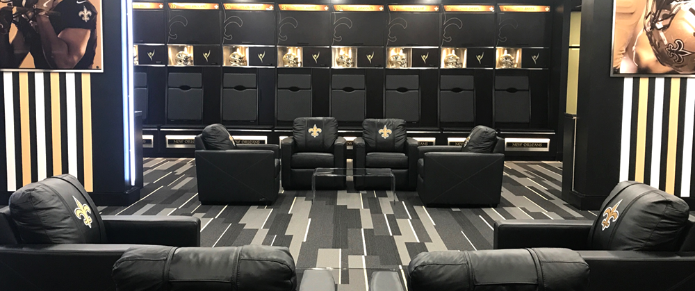 commercial seating chairs keller barber chair review custom logo furniture branded new orleans saints