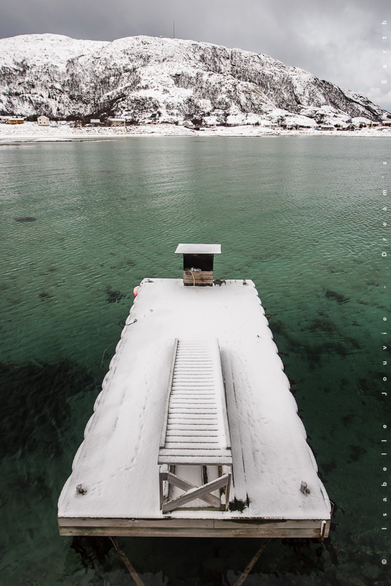 turquoise océan senja tromso hiver Norvège fjord