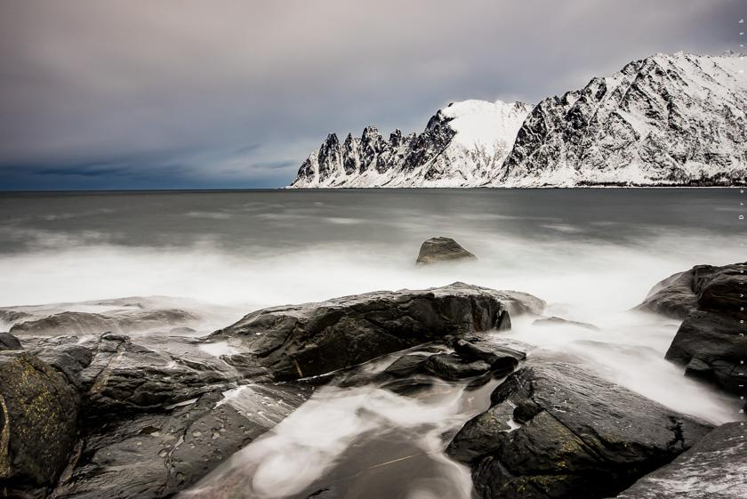Tungeneset montagne senja tromso hiver Norvège fjord