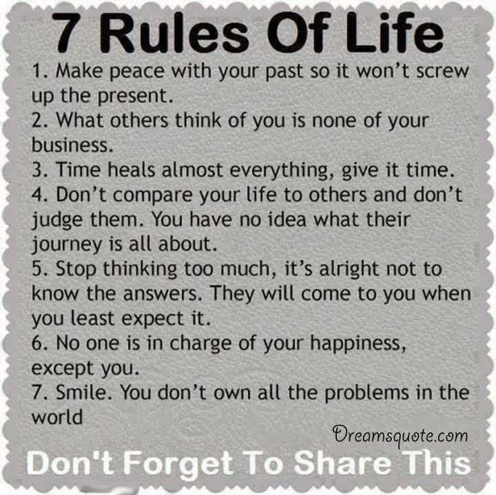 Positive Quotes About Life ' The 60 Rules Of Life Deep Inspirational Awesome Deep Qoutes About Life With Pic