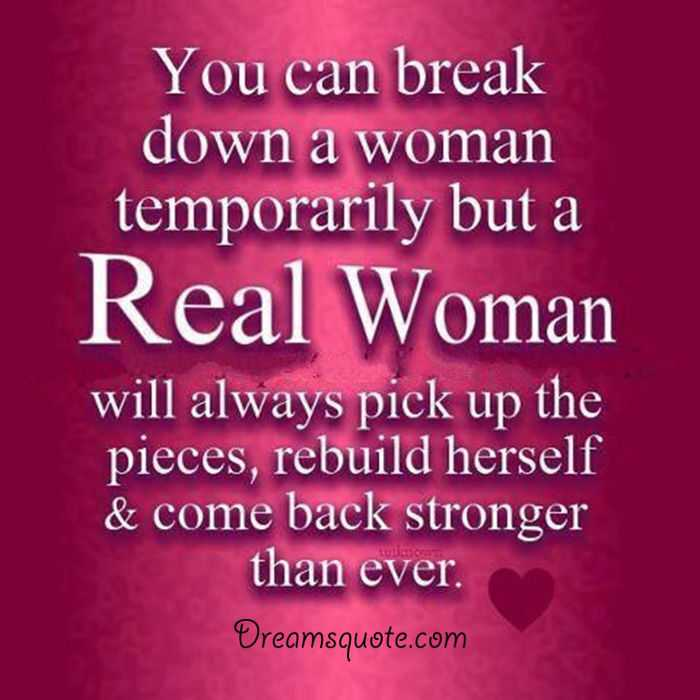 Confident Women Quotes Brilliant Womens Inspirational Quotes ' Real Woman Always Come Back Woman