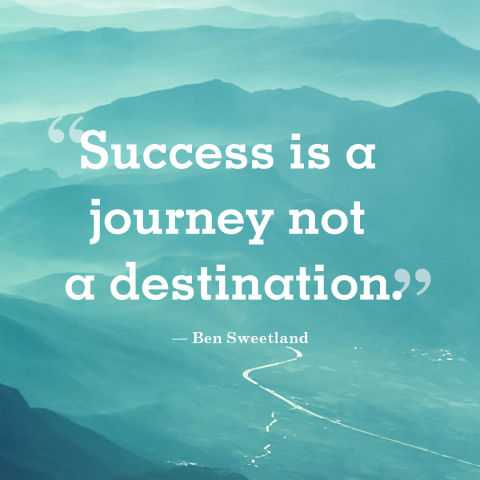 Short Success Quotes Short Positive Quotes 'Success is a Journey, Go with all your  Short Success Quotes