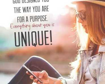Inspirational Quotes about life You are Unique! life quotes