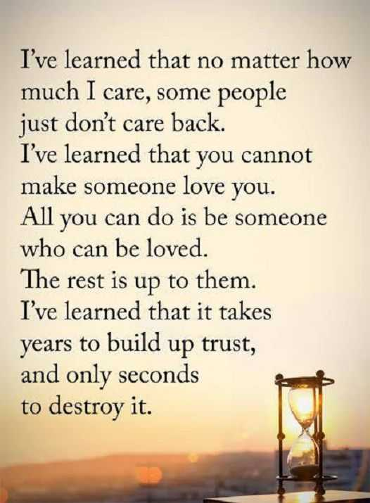 Inspirational Life Quotes How Much I Care, Some People Iu0027ve Learned