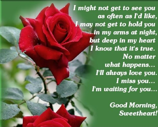 Good Morning Sweetheart Quotes: I Miss You Sweet Heart Good Morning Love Quotes