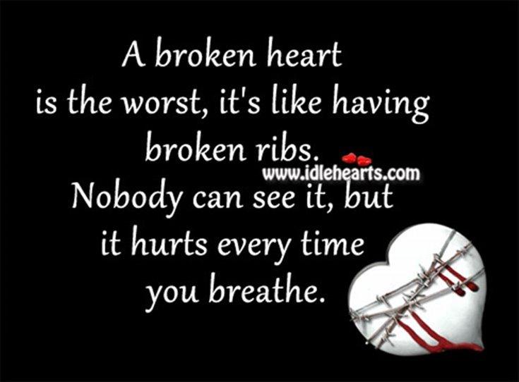 284 Broken Heart Quotes About Breakup And Heartbroken Sayings 7
