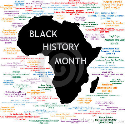Black History Month Collage Royalty Free Stock Images - Image: 17660769
