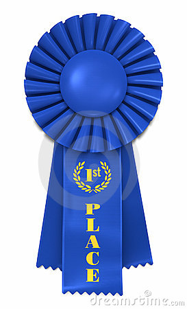 Blue Ribbon For First Place Royalty Free Stock Photo - Image: 10708795