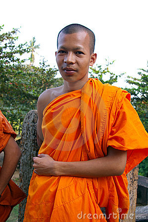 Buddhist man in robes