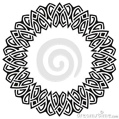 Black ornamental circle frame, Keywords: abstract art black border celtic