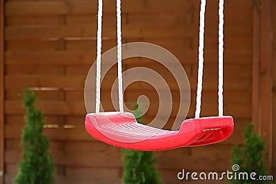 Empty red swing Stock Photos - Image: 16330543