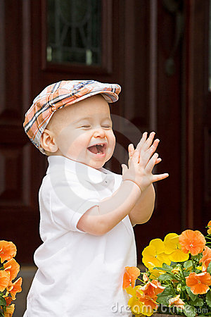 Stock Image: Little Boy Clapping. Image: 11367421