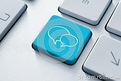 Social Media Key Royalty Free Stock Image - Image: 23350976