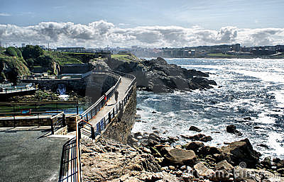 The coast line of La Coruna