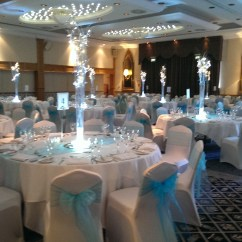 Wedding Chair Covers Burton On Trent Colored Dining Chairs Venue Dressing Centrepieces In Stoke