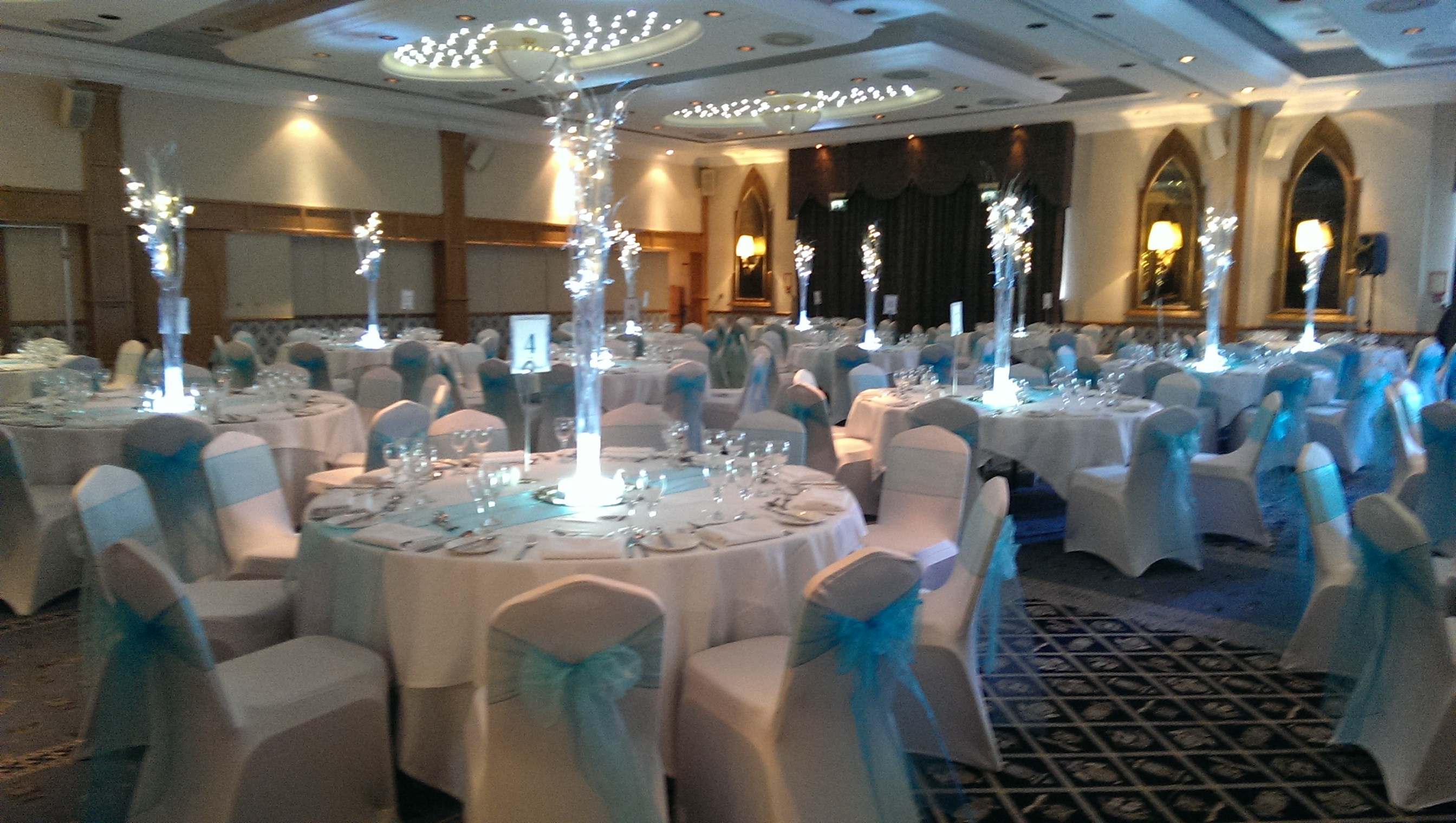 wedding chair covers tamworth x rocker gaming chairs table decorations hire newcastle