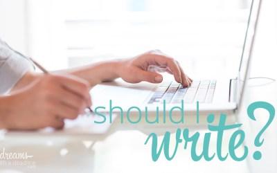 Should I write books?