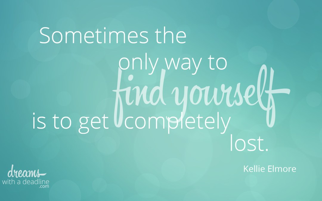 The only way to find yourself