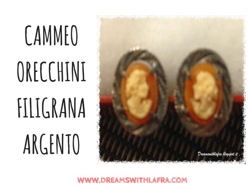 CAMMEO ORECCHINI FILIGRANA ARGENTO