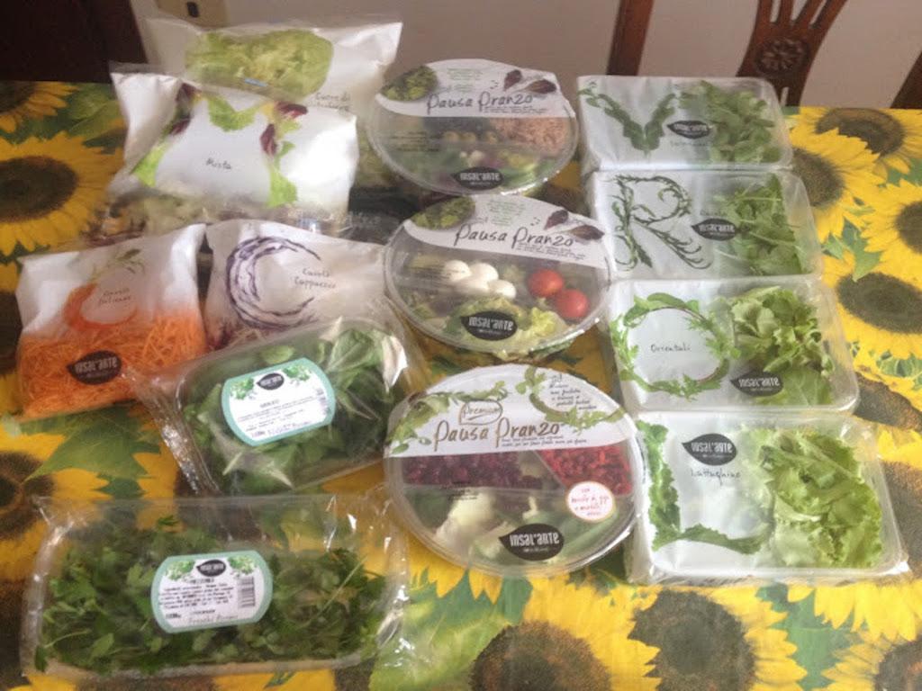 Insalarte Ortoromi- verdure già lavate e pronte da gustare