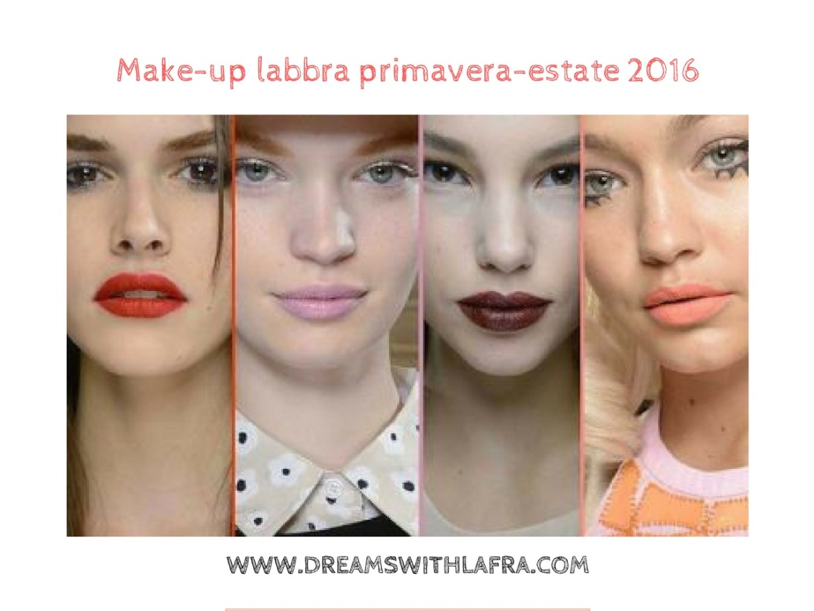Make-up labbra primavera-estate 2016