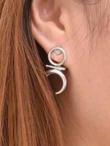round-moon-earrings