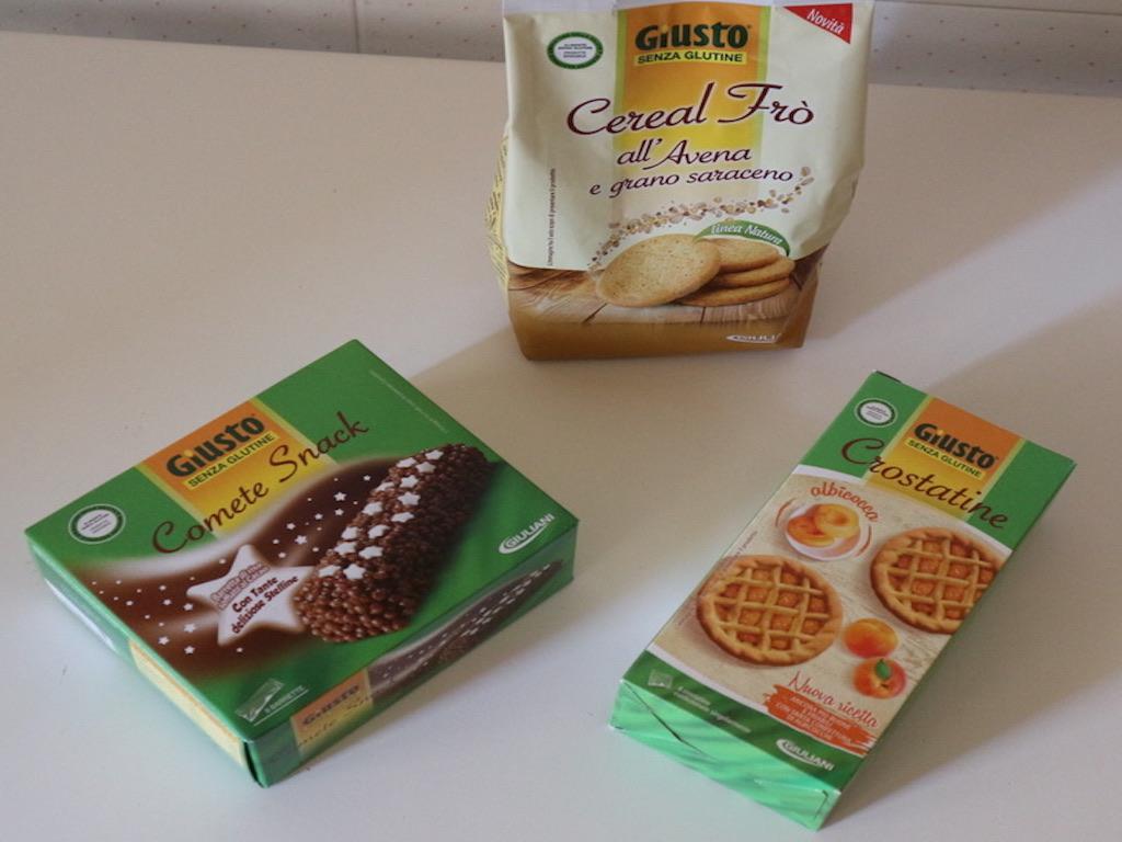 Intolleranza al glutine cosa mangiare - i dolci e le merende Giusto® Giuliani