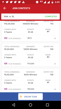 1st Rank Winning Screenshot