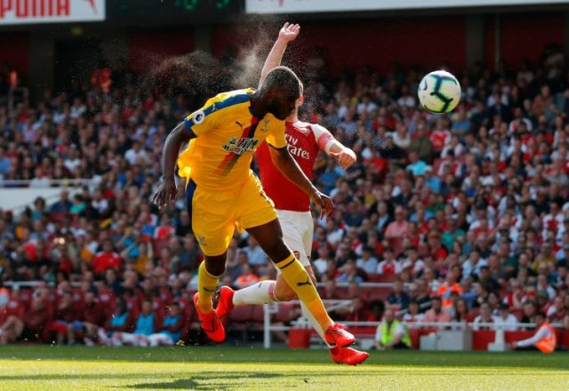 Image result for mustafi's mistake against man city
