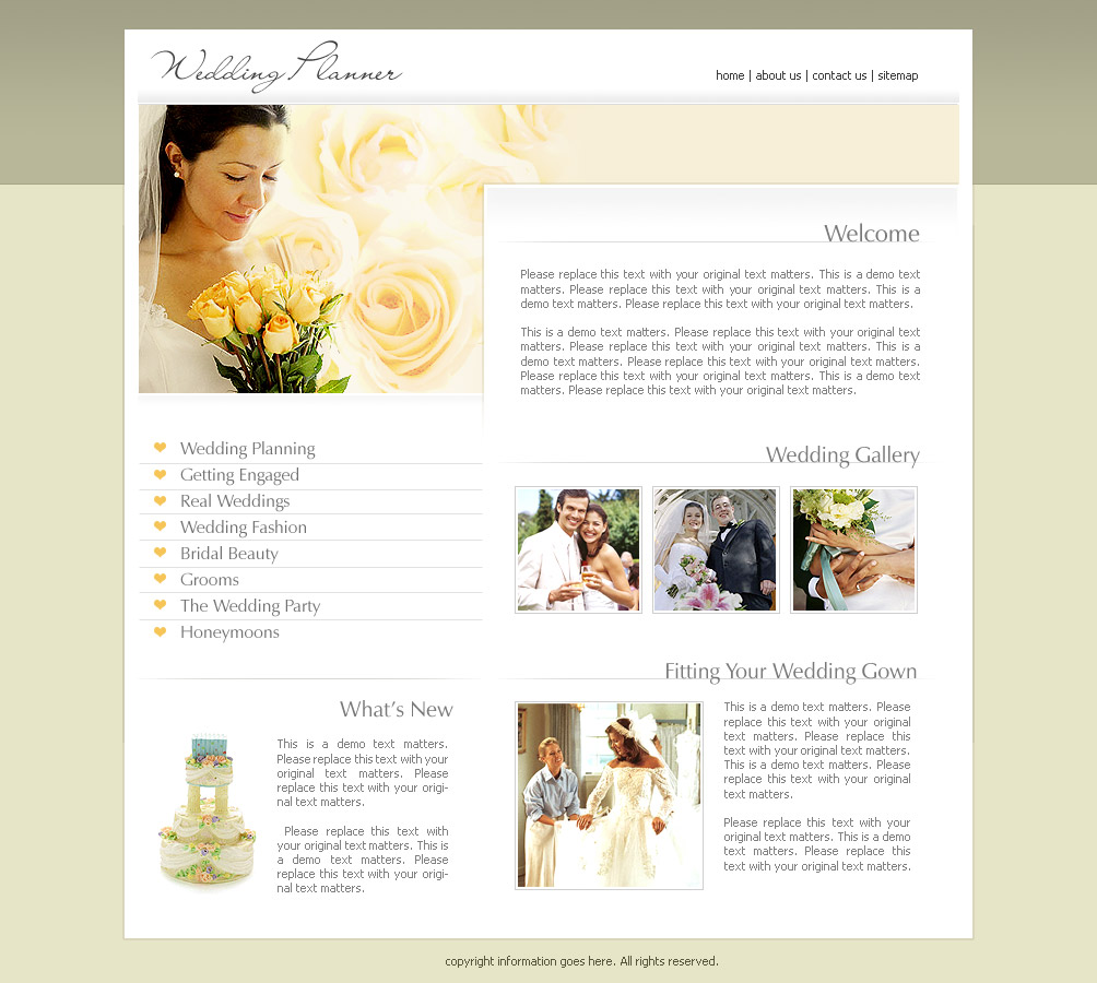2473  Wedding  Website Templates  DreamTemplate