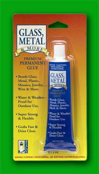 Glass metal bonding glue