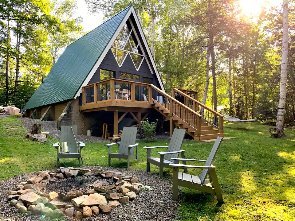 Modern A-Frame Chalet in Ontario