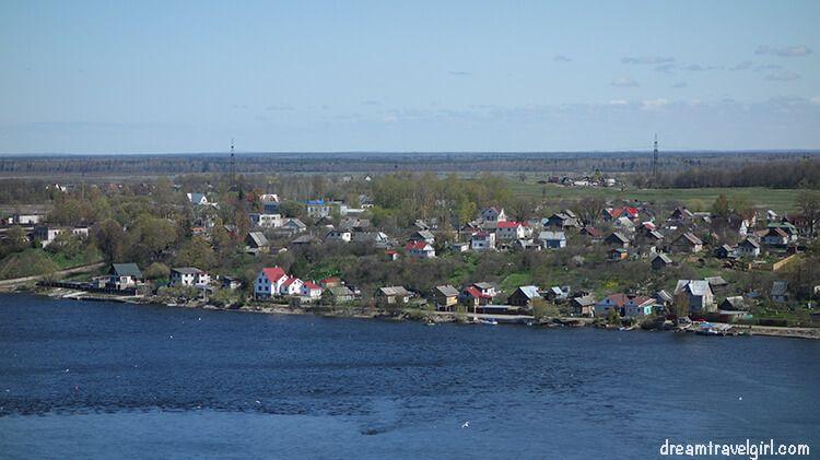 Ivanogorod, in Russia, from the Narva castle