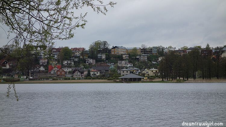 Viljandi from the other side of the lake