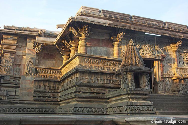 Belur temple in the evening, Karnataka